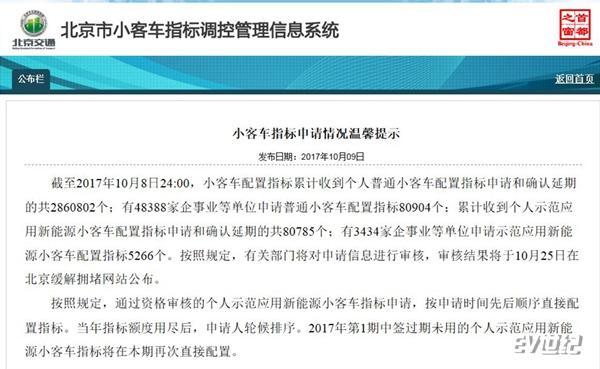 """北京80785人排队抢新能源指标 """"挤兑""""效应第一波利好A00电动车"""