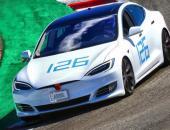 特斯拉测试3电机Model S原型车 宣称打破赛道纪录
